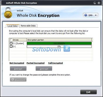 imlSoft Whole Disk Encryption 4.0