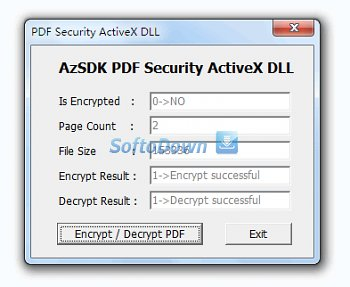 AzSDK PDF Security ActiveX DLL 2.00