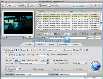WinX DVD to iPad Ripper for Mac 3.2.7