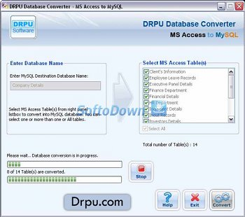 MS Access to MySQL Database Converter 4.0.1.6
